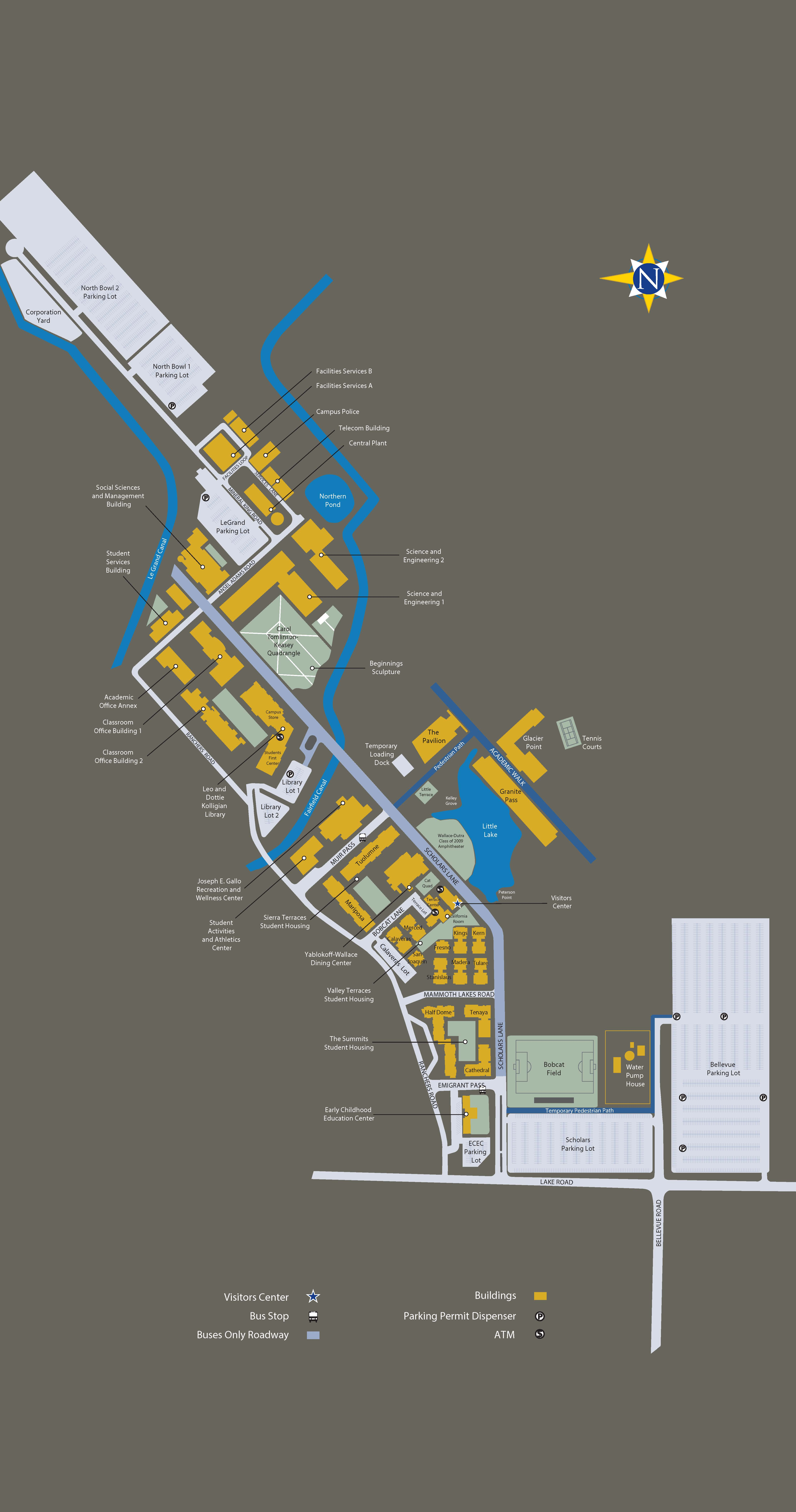 Map of UC Merced campus